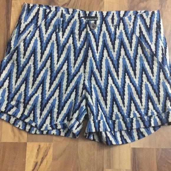 Valerie Bertinelli Pants - Linen Blend ☀️ sz 8 Chevron Beach Boho shorts